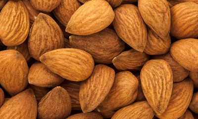 A bunch of natural almonds
