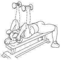 Triceps extension lying