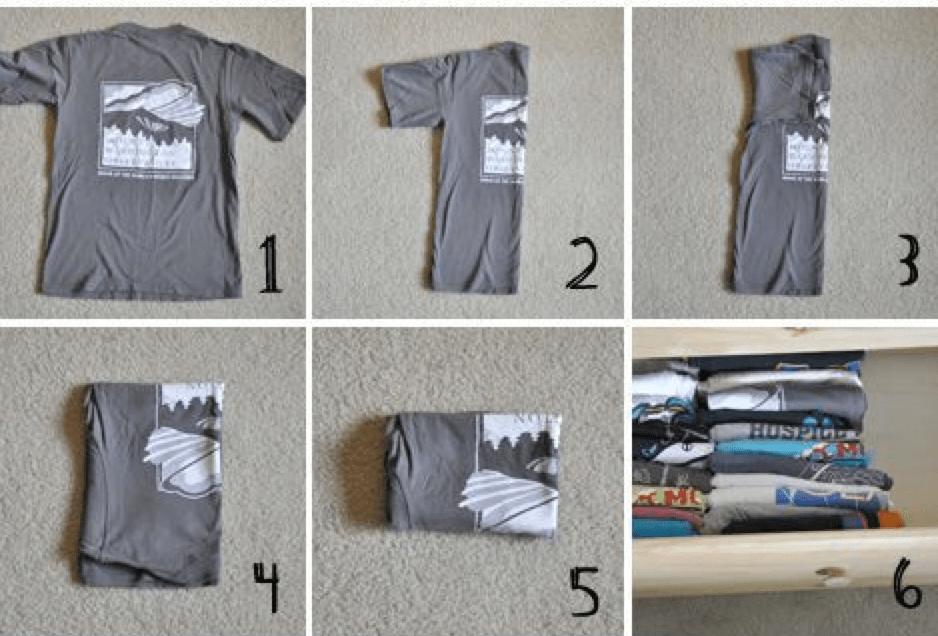 Как красиво свернуть футболку в подарок 96