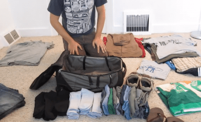 How to pack all your travel items into a small bag like a real pro