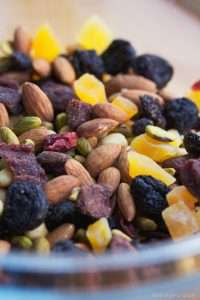 Dried Fruit and nuts in a bowl
