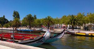 portugal, Aveiro half-mooned shaped boats
