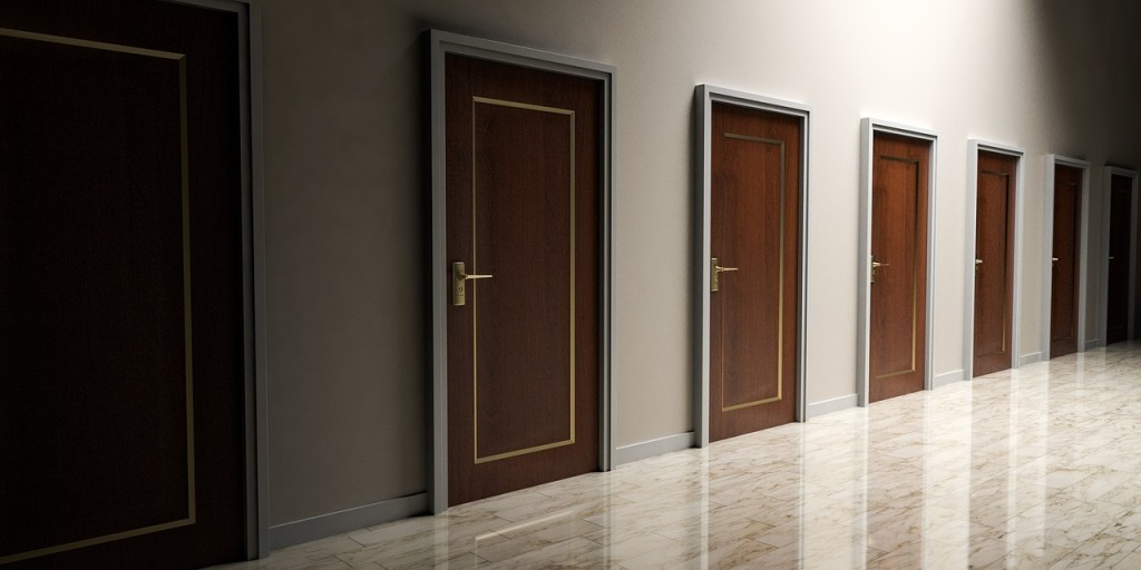 Life goals represented with doors