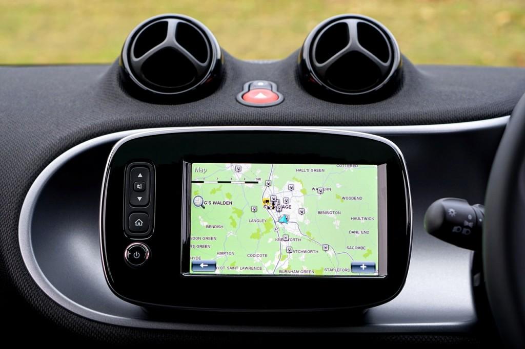car GPSin car deshboard