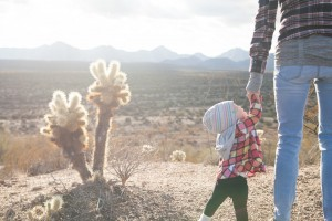 Outdoor travel mother baby