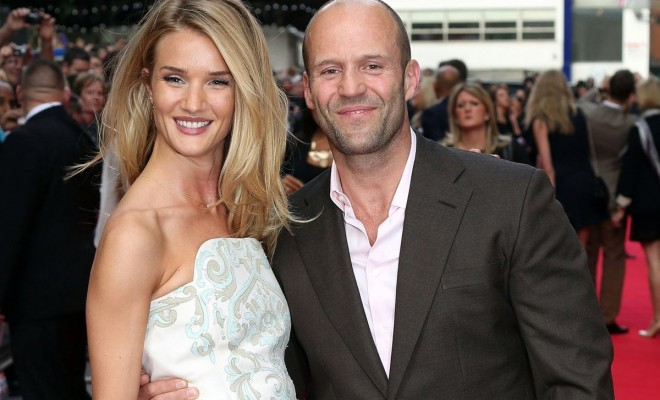 Actor Jason Statham and wife