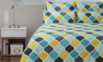 Checker green and yellow diamond bed cover