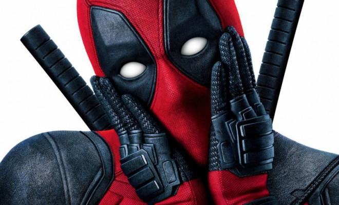 Deadpool superhero with hands on his face