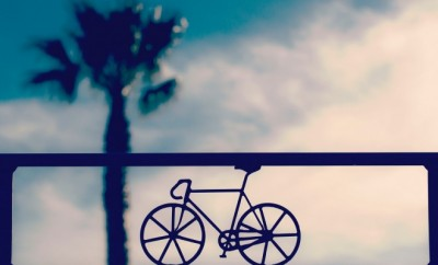 Bike on a sunset background