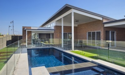 Modern house with an outdoor pool