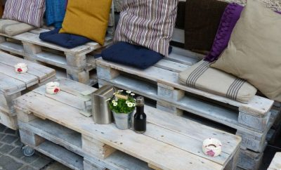 outdoor repurposed furniture
