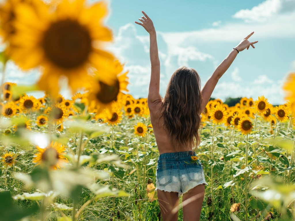How Millennials Take Care of Their Mental Health- spiritual girl in sunflower field