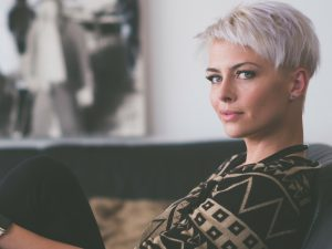 Social Media Drives the Definition of Beauty -lady with short blond hair