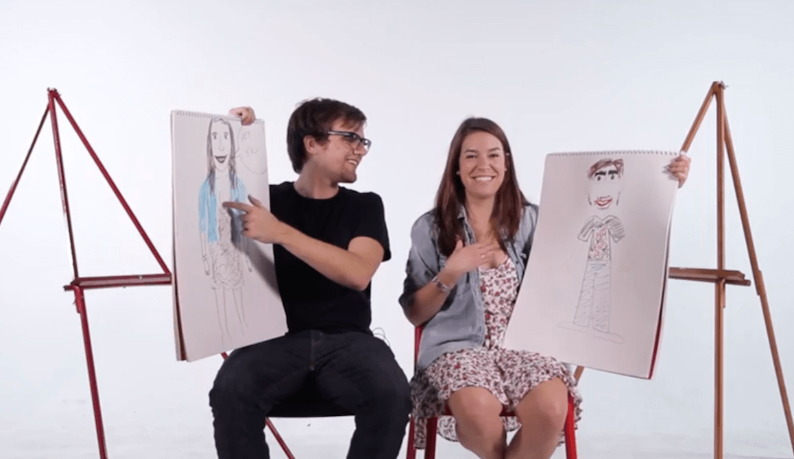 Couples Draw Each Other from memory