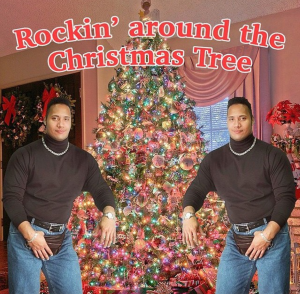 The Rock spreading the cheers