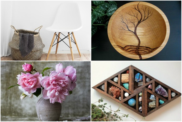 Live with Less: How to Embrace Minimalism at Home-Natural Materials Collage