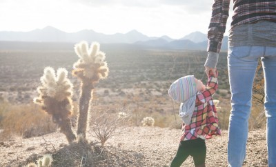 Outdoor travel mother baby
