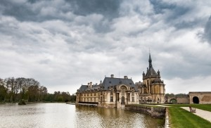 French castle by the river