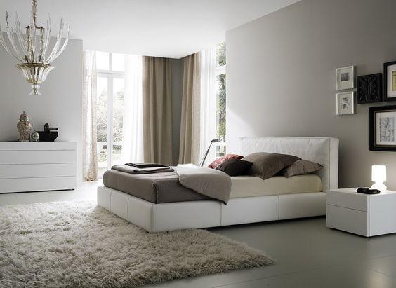 earthy tones in a bedroom