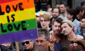 Street protest for gay marriage