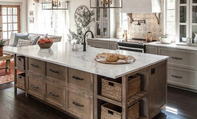 modern, rustic kitchen decor