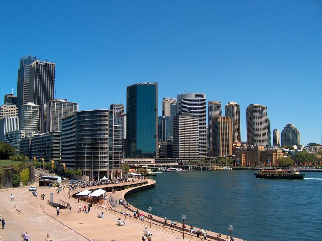One side view of Darling Harbour
