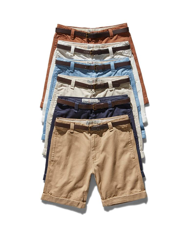 Men's shorts pilled on top of each other