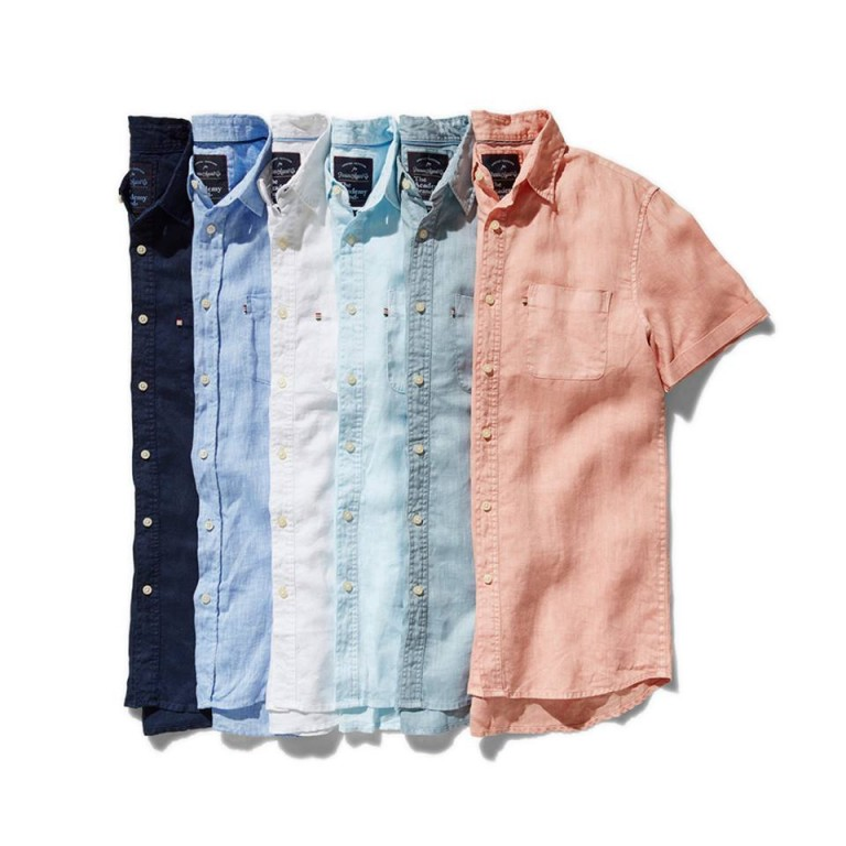 6 lined up short sleeve shirst