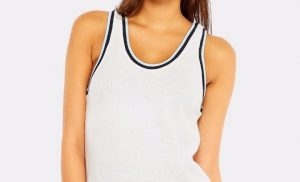 Woman with a white top tank