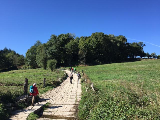 Hiking track in Santiago, Spain