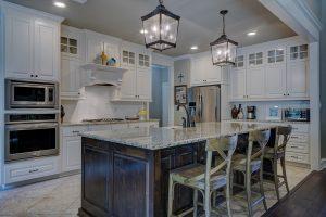 Modern kitchen with modern appliances
