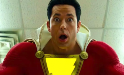 New Cinema pic of Shazam looking suprised