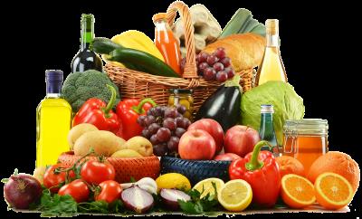 basket full of veggies and fruit