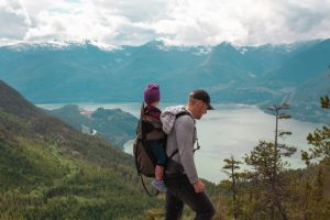 Father's Day Celebration Ideas- Father with a baby on an adventure