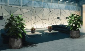 Office Design Trends of 2019 - Abstract & Geometric Patterning in office