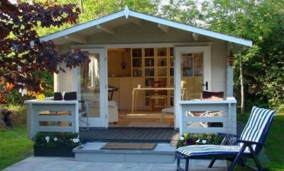 Shed converted into a small home
