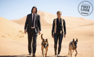 Photo Keanu Reeves and Hale Berry in John Wick3
