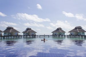 infinity pool in Maldives