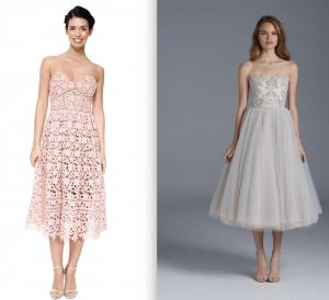 two models in midi dresses
