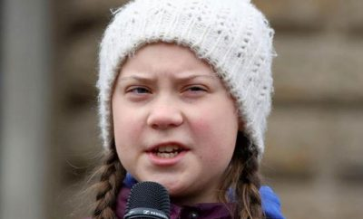 Greta Thunberg, a 16-year-old Swedish activist