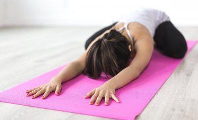 woman in a exercise matt