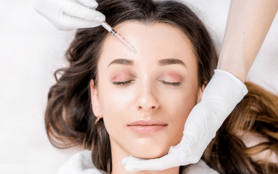 woman having botox