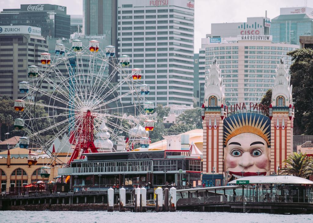 Sydney luna park family