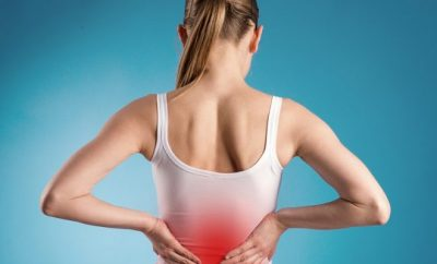 lady with back pain