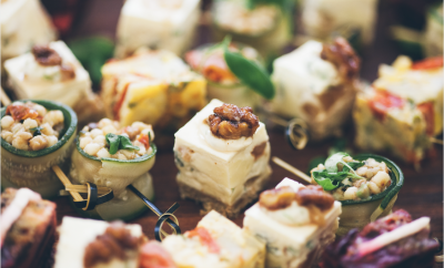Canapé, food, catering