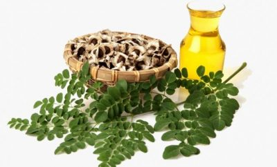oil and herbs