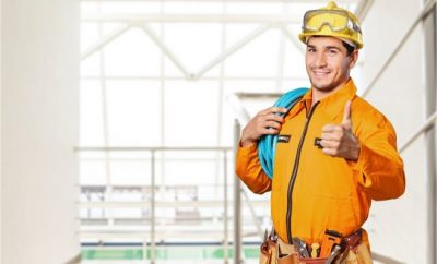 electrician with thumps up