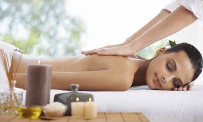 Lady getting a massage.
