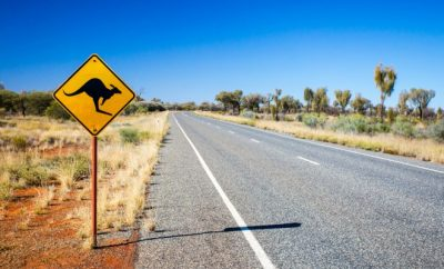 road sign, trip, Australia outback