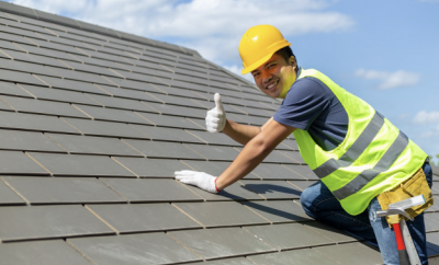 Roofing, roof, man on roof